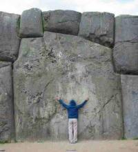 hugging rocks