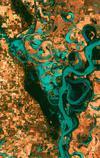 USGS EROS Mississippi Landsat 7 image