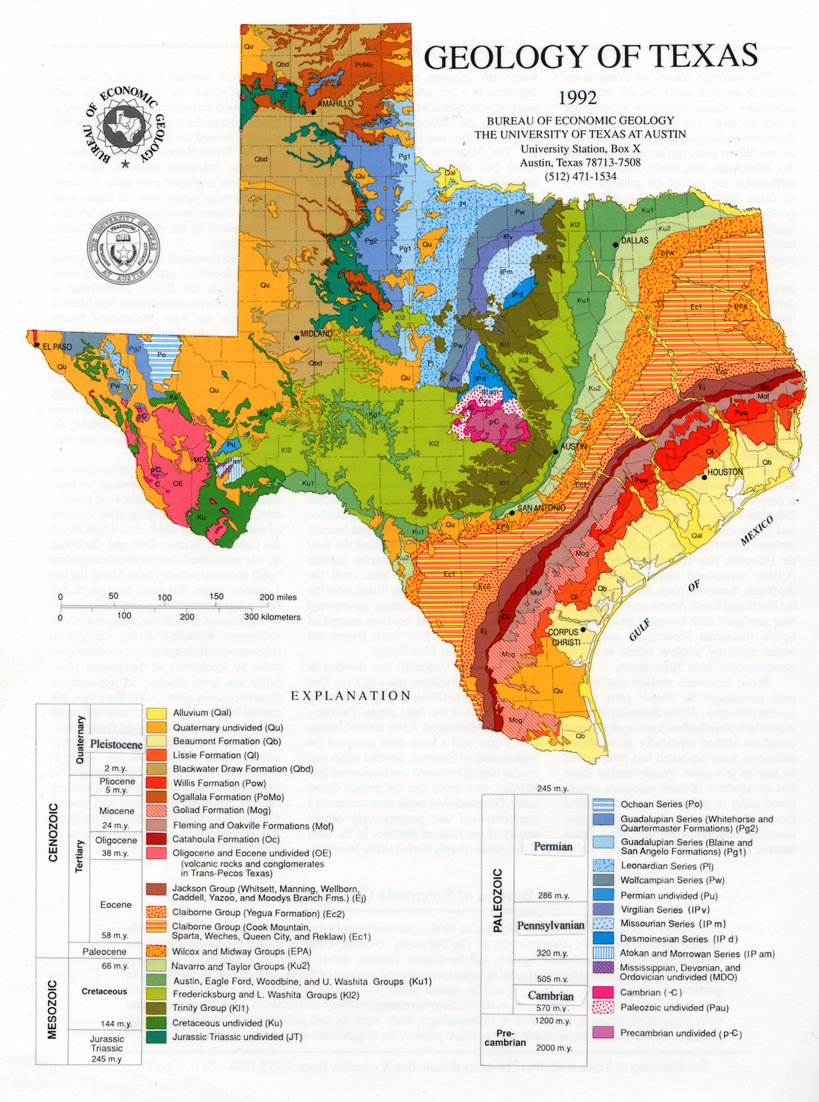 Map Of Texas And Florida.Geologic Maps And Geologic Structures A Texas Example