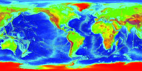 Global topography, small version