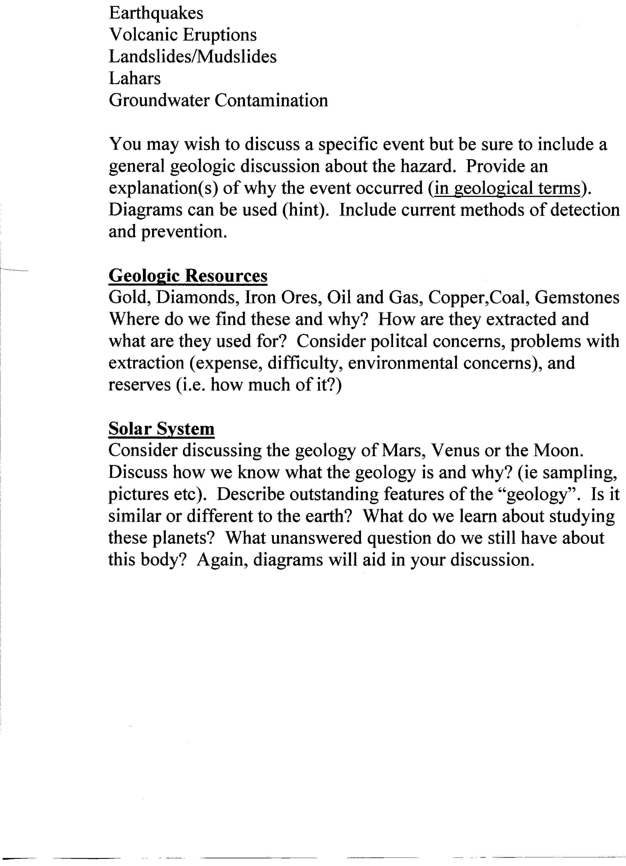 short geology research paper short paper description page