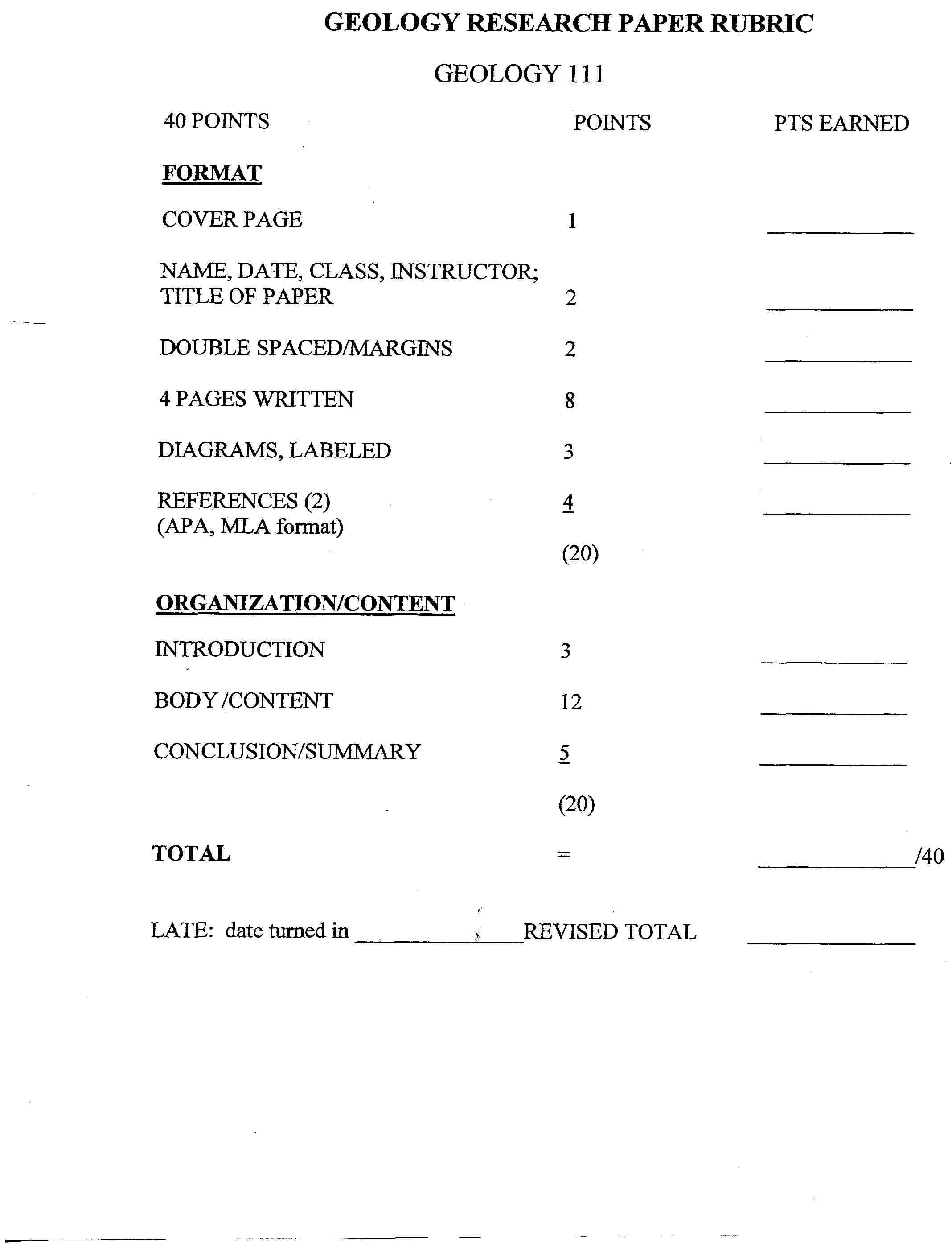 short_paper_grading_rubric, Powerpoint templates