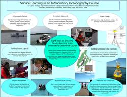 Service Learning in Oceanography Poster