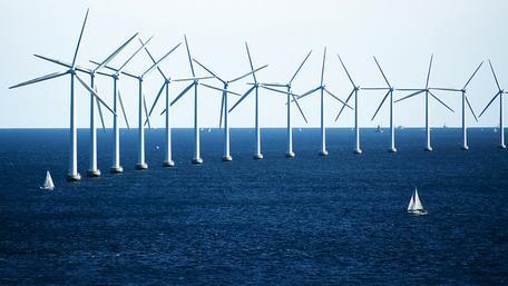 Wind turbines ocean