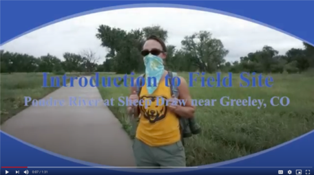 Screenshot of video to introduce students to field methods.