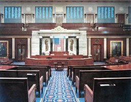 The US House of Representatives chamber
