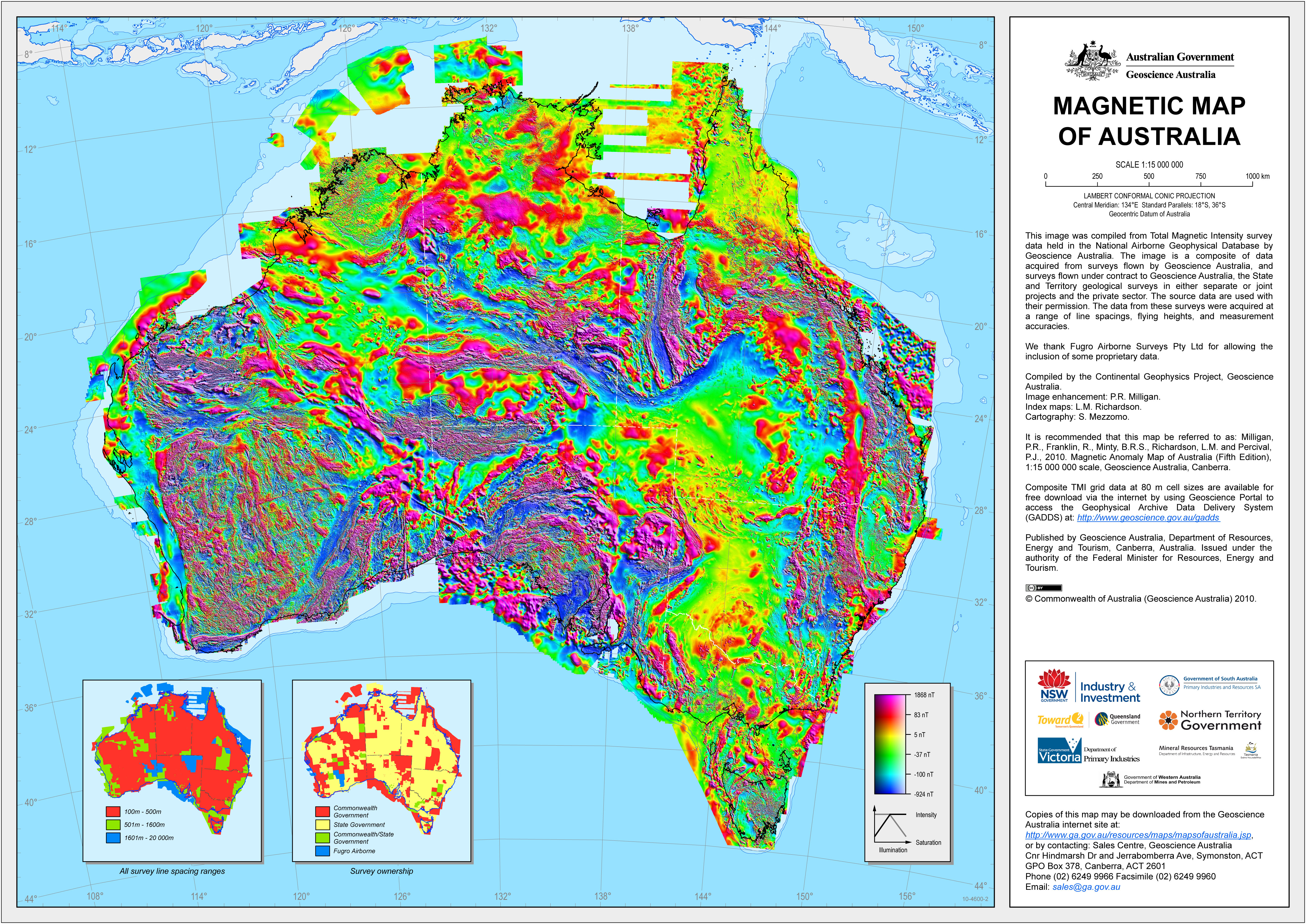 Magneticmapaustraliag magnetic map of australia view original image at full size gumiabroncs Choice Image