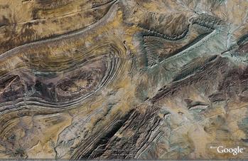 Anti-Atlas Mountains, Algeria faulted dome