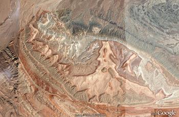 Eastern Dasht-e Lut, Iran monocline