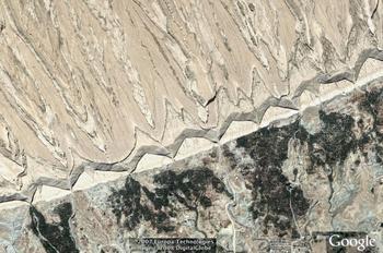 Khvorgu, Iran area for strike and dip, mid view