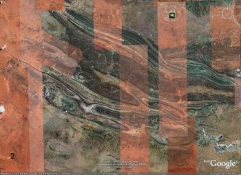 Macdonnell Ranges, Australia,  folds