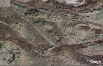 Near Gamboli, Pakistan, en echelon folds along a strike slip fault