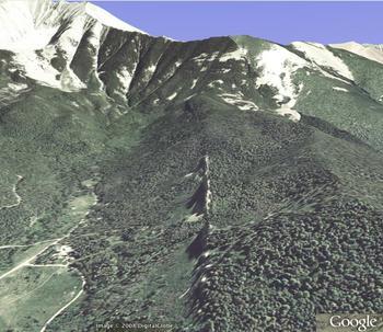 Spanish Peaks, CO, dike 2 oblique 1