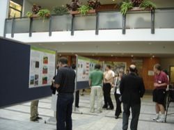 Poster presentations of the peat bog project at the REACH research celebration