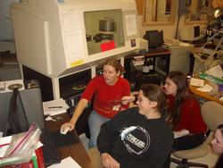 Students working on XRD