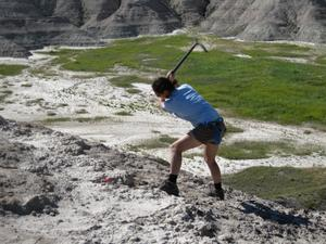 Rebecca Moshman in the Badlands