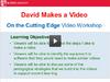 David makes a video thumb