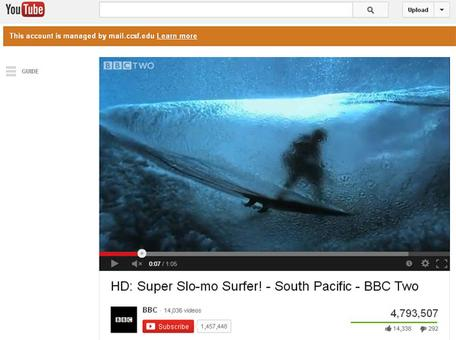 BBC Surfer Video Screenshot