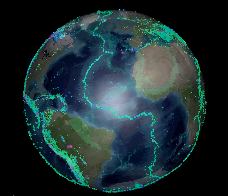 Google Earth Wallpaper: Visualizing Earthquakes At Divergent Plate Margins