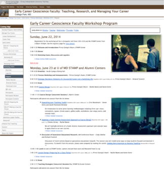 Early Career 2014 Program page