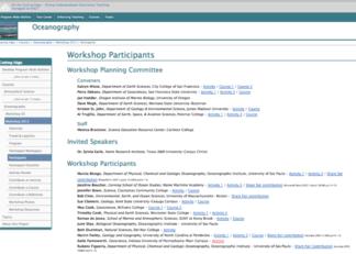 Oceanography 2013 Oceanography workshop participant list page
