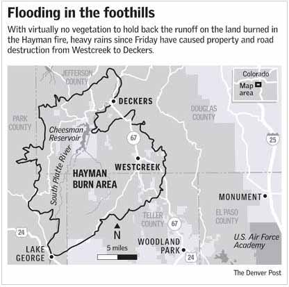 Deckers Colorado Map.Megafires Colorado