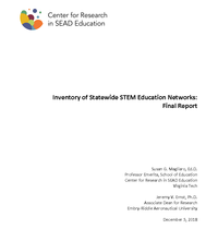 Inventory of Statewide STEM Education Networks