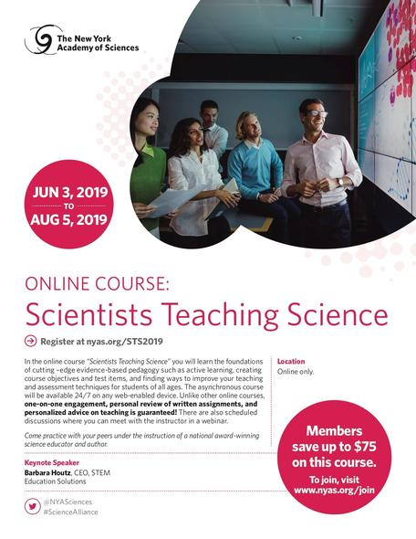 Scientists Teaching Science Course