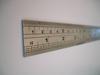 Steel ruler closeup