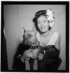 Billie Holiday and Mister.