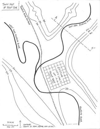 Basic topo map of Point Bar, WA
