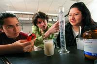 Melissa Eblen-Zayas and students