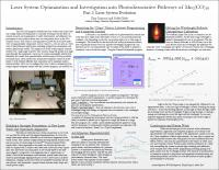 Laser System Optimization and INvestigation into Photodissociateive Pathways of MN2(CO)10 - Part 2: Laser System Evolution