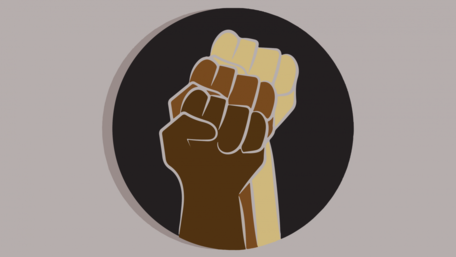 Social Justice Image - 3 fists raised of different colors