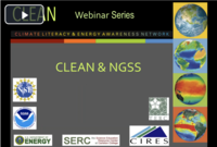 CLEAN NGSS Webinar screenshot