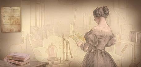 Eunice Foote in her laboratory