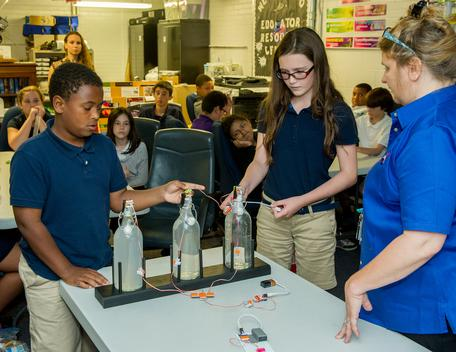 Students learn about atmospheric gases