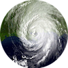 Hurricane Katrina as seen by NOAA satellite
