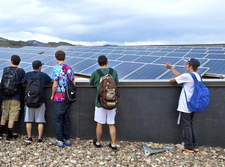 Solar roof field trip