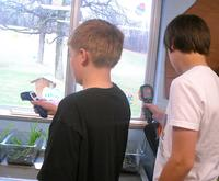 Students measuring temperatures