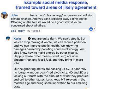 Example social media response, part 1
