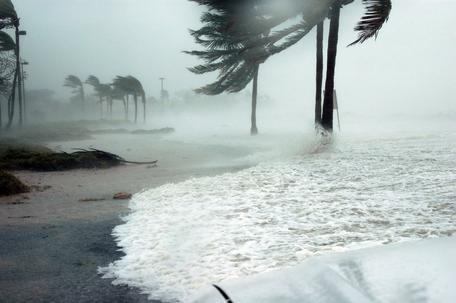 A storm surge in Key West Florida