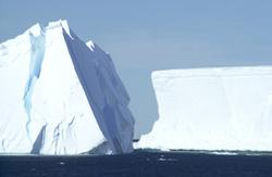 Icebergs in McMurdo Sound