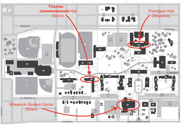 PNW16 Campus Map