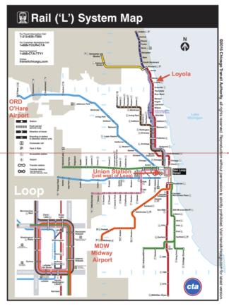 Loyola University by train