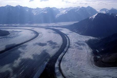 Valley glaciers and moraines, Yukon, Canada