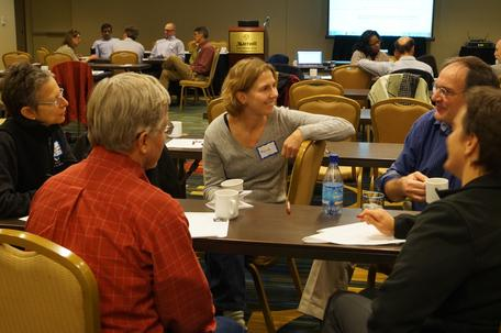 Small group discussion, 2013 Heads and Chairs workshop