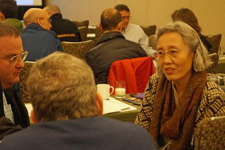 Small group discussion at the 2015 Heads and Chairs workshop