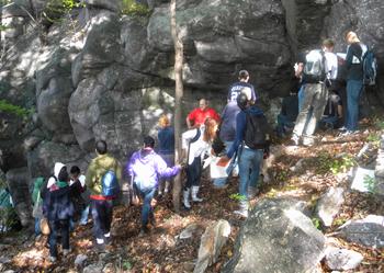 Rutgers University, Newark, students on a field trip