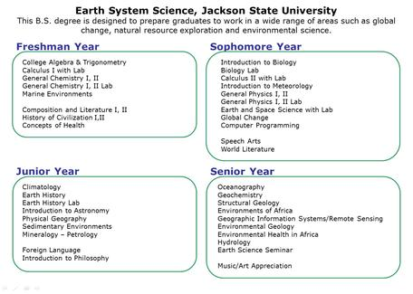 Earth System Science Curriculum - Jackson State University